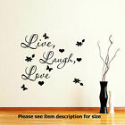 Live Laugh Love Wall Quote Stickers Removable Vinyl Decal Home Art Decoration D2