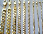 "1.5MM- 11MM 14K SOLID YELLOW GOLD CUBAN LINK WOMEN/ MEN'S NECKLACE CHAIN 16""-30"" image"