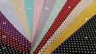 100% Cotton Small Polka Dot (10cm sample colour testers & per metre purchasing)