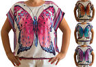 Womens Plus Size Fashion Tops Ladies Short Cap Sleeve Loose Blouse Size 14 - 24