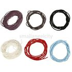 100&10 meters Real Leather Cord Length Jewelry Necklace String Thread 7color Hot