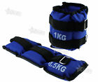 Pair of Ankle/Wrist Weights Stength Fitness Resistance Training Exercise 1kg/2kg