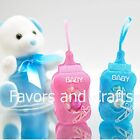 50 Fillable Bottle Pouches Baby Shower Favors Blue Pink Decorations Girl Boy