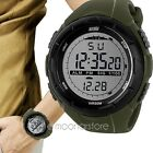 Men LCD Digital Stopwatch waterproof Rubber Date Sports Meter Dial Wrist Watch