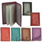 Top Grade. Genuine Leather Credit Card Case, 12 inserts. 8 Colours