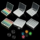 Sewing Machine 25 Cell Plastic Clear Bobbin Box with 25PCS Spools DIY Tools New