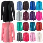 New Womens Ladies Long Sleeve Casual Open Boyfriend Cardigan Size 8 10 12 S M L