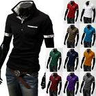 New Men Casual Slim Fit Stylish Collar Shirt Short Sleeve POLO T-shirts Tee Tops