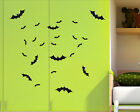 Set of 24 x BATS Halloween bat decal sticker vinyl wall art child room BAT4