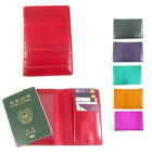 Eel Skin Leather Passport Holder Cover Purse Wallet New