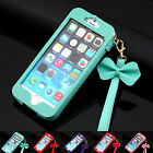 cute Luxury BOW Chain Wristlet Strap Pouch Sleeve Leather Case for iPhone 5 5S