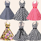 ❤UK CLEARANCE ❤VINTAGE STYLE 50s 60s ROCKABILLY PIN UP SWING EVENING PROM DRESS