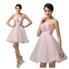 Summer Masquerade Acrylics Organza Cocktail Evening Prom Party Mini Short Dress