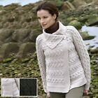 100% Irish Merino Wool Ladies One Button Sweater