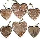 Vintage Style Wooden Hanging Hearts Plaque Sign Shabby Chic Valentines Gift