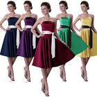 Stunning Prom Cocktail Wedding Bridesmaid Gown Party Knee-Length Pageant Dresses