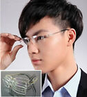 Man Women 100% Luxury Titanium Eyeglass Frame Glass Rimless Light Spectacles RX