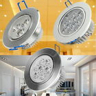 6/12/60 X 3W 7W 12W Cool Warm White LED Ceiling Light Spot Downlight + AC Driver