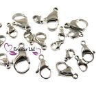 Lobster Claw Clasps 304 Stainless Steel Jewellery Findings, ABC