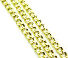 "16-24"" 2.5mm 10k Yellow REAL Gold Miami Cuban Curb Lite Chain Necklace Mens"