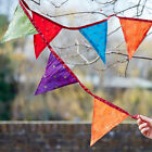 Recycled Sari Bunting, Ideal inside & outside, parties and bedroom decoration
