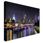 London skyline by night 40x20inches Wall Picture Canvas Art Cheap Print