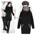 Womens Long Thick Hoodie Jacket Coat Sweatshirt Winter Outwear Top Plus Size C1M