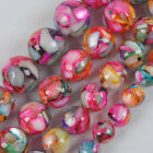 """8/10/12/14MM Motley Mother Of Pearl Shell Loose Beads Strand 16"""" Jewelry"""