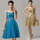 Sale Twinkle Sequins Short Bridesmaid Wedding Formal Evening Gown Party Dress