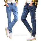 New Hot Fashion Women Ladies Striped Slim Fit Pencil Jeans Trousers Casual Pants
