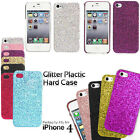 Sparkle Glitter Shiny Bling Hard Back Case Cover For Apple iPhone 4 4S