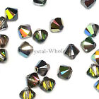 4mm Vitrail Medium Genuine Swarovski crystal 5328 / 5301 Loose Bicone Beads