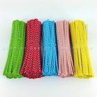 """COLOURED POLKA DOT TWIST TIES for Cone cello gusset bags 4.5"""" 10cm"""