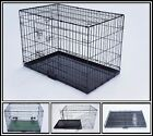 """MEDIUM (30"""") BLACK&SILVER COLORS DOG PUPPY METAL CAGES CRATES, FOLDABLE CARRIERS"""