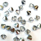 3mm Crystal Comet Argent Light (001 CAL) Swarovski 5328 / 5301 Bicone Beads