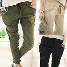 Womens Elastic Waist Pencil Pants Casual Slim Fit Skinny Pocket Trousers S-XXL