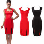 New Soft Cotton Dress Vintage Style 60s Rockabilly Party Prom Ball Office Dress