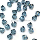 6mm Indian Sapphire (217) Genuine Swarovski crystal 5328 / 5301 Bicone Beads