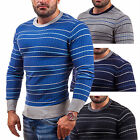 BOLF X&J 9015 Herrenpullover Strickjacke Pulli Streifen Sweater Men 5E5 Shirt