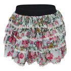 Ladies Womens Girls Floral Tutu Dance Hen Party Short Mini Elasticated Skirt