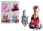 Baby Girl Dress Set (Summer Skirt + Pants Dressy Party Beach) Cow Leopard Pink