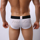 Free Shipping ! Sexy Men's Underwear Shorts Mesh Boxer Briefs Underpants Trunks