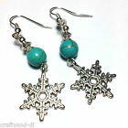 Turquoise Drop Earrings Retro Vintage Antique Chic Boho Fashion Choice Fittings