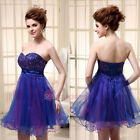Royal Blue Short Homecoming Party Dresses Mini Graduation Bridesmaid Gowns 2-16