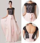 Vintage Long Gown Wedding Bridesmaid Evening Formal Homecoming Dress STOCK 6-20