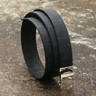 NEW Dior Homme Black Leather Belt with Jacquard Design GENUINE RRP: £170 BNWT