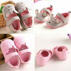 Love gray mouse Infant size 0-18 Months Crib Toddler Soft Sole Girls Baby Shoes