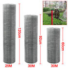 "Welded Wire Mesh 1"" x 1""  3 widths 25m or 30m Fence Aviary Hutches Run Pet Coop"