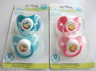 Disney Winnie the Pooh Tigger dummy soother 2 pack baby girl boy silicone teat