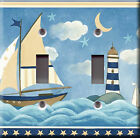 Light Switch Plate Cover - Sailboat sea lighthouse - Water moon stars sky cloud